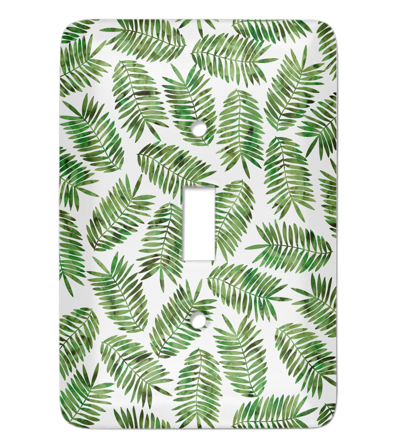 Tropical Leaves Light Switch Covers Personalized Youcustomizeit Vector floral background in a trendy minimalistic linear style. tropical leaves light switch covers personalized