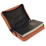Personalized Leatherette Book / Bible Cover with Handle & Zipper