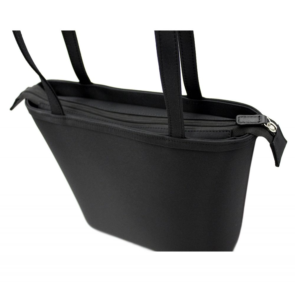 Personalized Sewing Time Bucket Tote w//Genuine Leather Trim Regular w//Front /& Back Design