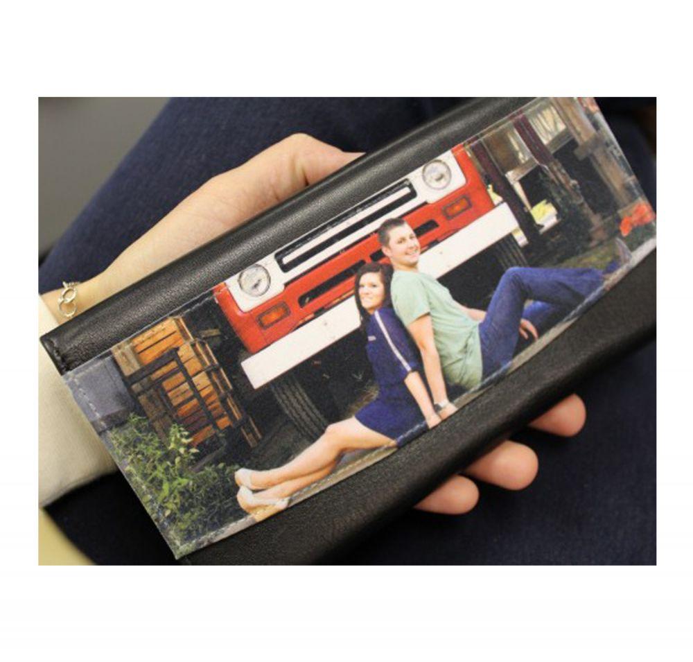 Genuine Leather Ladies Wallet - In Use