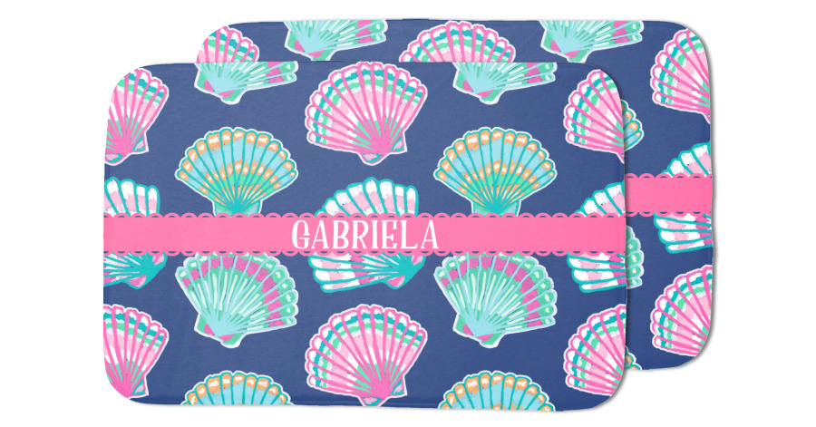 Preppy Sea Shells Dish Drying Mat Personalized
