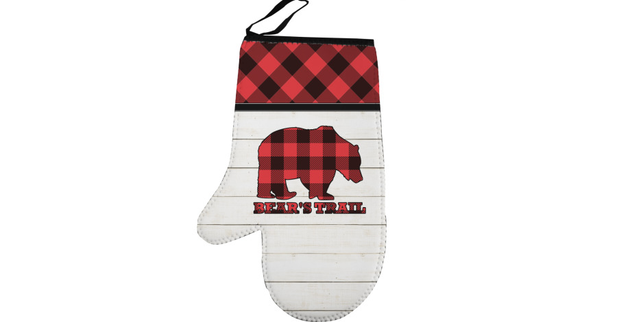 a455384ff Lumberjack Plaid Left Oven Mitt (Personalized) - YouCustomizeIt
